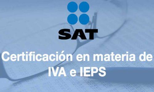 Certificación de empresas en materia de IVA e IEPS